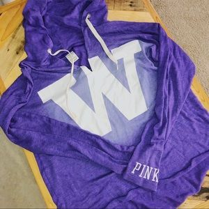 PINK University of Washington Loose Fit Hoodie